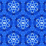 Abstract Israeli Ornamental Pattern Stars of David Yom Ha`atzmaut Israel 70th Independence Day. Abstract Israeli Ornate Background Star of David Yom Ha`atzmaut Royalty Free Stock Images