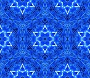 Abstract Israeli Ornate Blue White Pattern Yom Ha`atzmaut Stars of David. Abstract Israeli Seamless Ornate Pattern Star of David Yom Ha`atzmaut Israel 70th Royalty Free Stock Photo
