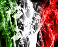 Abstract italian flag. Made of smoke Royalty Free Stock Images