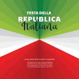 Abstract Italian flag. abstract banner. Second of June, celebration of Italian Republic Holiday. Vector illustration Stock Photos