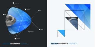 Abstract jaarverslag, bedrijfs vectormalplaatje Brochureontwerp, dekking Royalty-vrije Stock Afbeeldingen