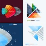 Abstract jaarverslag, bedrijfs vectormalplaatje Brochureontwerp, dekking Stock Afbeelding
