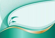 Abstract Jade en Goud Als achtergrond Stock Foto's