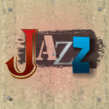 Abstract jazz music background. Abstract cracked jazz music background with color signs Stock Photos