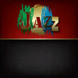 Abstract jazz music background. Abstract grunge music background with logo jazz Royalty Free Stock Images