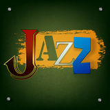 Abstract jazz music background. Abstract grunge green background with the word jazz Stock Photography