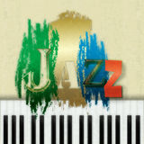 Abstract jazz music background. Abstract grunge background with the word jazz and piano Royalty Free Stock Photos