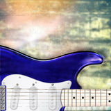 Abstract jazz rock background with electric guitar Royalty Free Stock Image