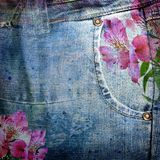Abstract jeans background royalty free stock images