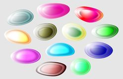 Abstract Jelly Shapes stock photos