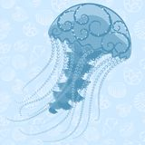 Abstract Jellyfish. Vector illustration of deep sea jellyfish Royalty Free Stock Image