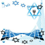 Abstract jewish art. Abstract colorful illustration with jewish symbols. Abstract art with menorah symbol and the star of David Stock Images