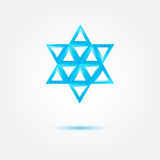 Abstract Jewish star - vector symbol Stock Photo