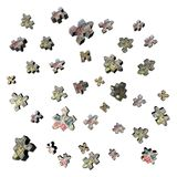 Abstract jigsaw currency pieces Royalty Free Stock Photography