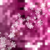 Abstract jigsaw pink background Royalty Free Stock Images
