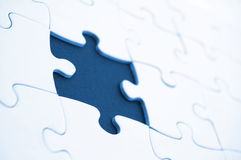 Abstract jigsaw puzzle background. Abstracg jigsaw puzzle background with missing piece Stock Photos