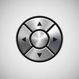 Abstract Joystick Button with Metal Texture Stock Photo