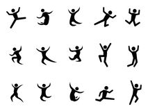 Abstract jumping figures Stock Photos