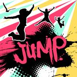 Abstract jumping people Stock Photos