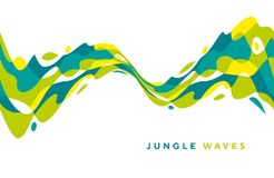 Abstract jungle geometric design element. Tropical green colors design for header, card, invitation, poster, cover and other web and print design projects stock illustration