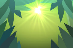 Abstract jungles background with sun rays vector Stock Photo
