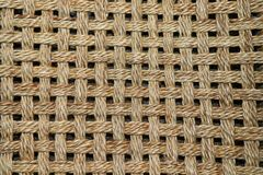 Abstract jute background. stock photo