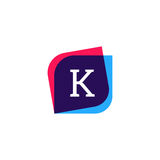 Abstract K letter logo company icon. Creative vector emblem bran Stock Images