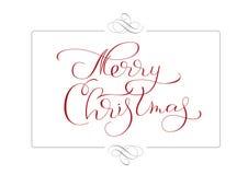 Abstract kader en kalligrafische tekst Vrolijke Kerstmis Vector illustratie EPS10 royalty-vrije illustratie