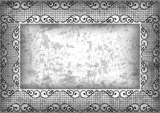 Abstract kader met grungeachtergrond Stock Foto