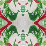 abstract kader met plasticinemengeling in de groen, wit en rode kleuren, achtergrondtextuur stock illustratie