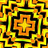 Abstract Kaleidoscope Background - Black Yellow Royalty Free Stock Images