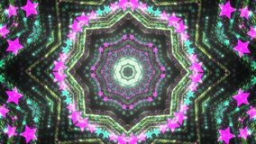 Abstract kaleidoscope background with bright details and elements.  royalty free illustration