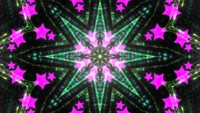 Abstract kaleidoscope background with bright details and elements.  stock illustration