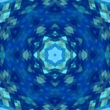 Abstract kaleidoscope background image. Abstract blue kaleidoscope background image Royalty Free Stock Images