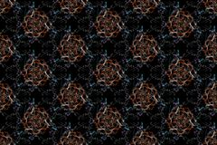 Abstract kaleidoscope background. Seamless texture royalty free illustration