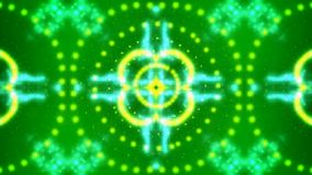 Abstract kaleidoscope in green, red, blue with roses Stock Photo