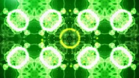 Abstract kaleidoscope in green, red, blue with smoke Stock Image