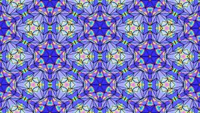 Abstract kaleidoscope looping background stock footage