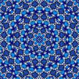Abstract kaleidoscope mandala pattern design stock illustration