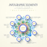 Abstract kaleidoscope option infographics Royalty Free Stock Images