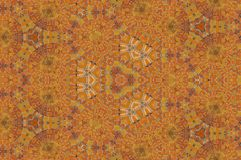 Abstract kaleidoscope pattern of brick stone wall. A photo of abstract kaleidoscope pattern of brick stone wall with old peeling paint texture background, close royalty free illustration