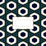Abstract kaleidoscopic decorative background with etiquette Stock Photo