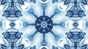 Abstract kaleidoscopic snowflake. stock video footage