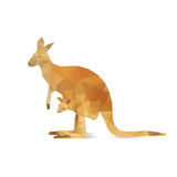 Abstract kangaroo isolated Stock Photos
