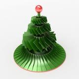 Abstract Kerstboomstuk speelgoed 3D Illustratie Stock Fotografie