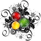 Abstract Kerstmisontwerp, vector Stock Foto's