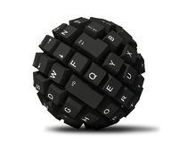 Abstract keyboard ball Stock Photo