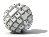 Abstract keyboard ball Royalty Free Stock Photo