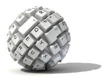 Abstract keyboard ball Royalty Free Stock Photo