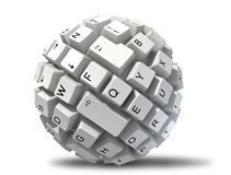 Abstract keyboard ball Stock Image